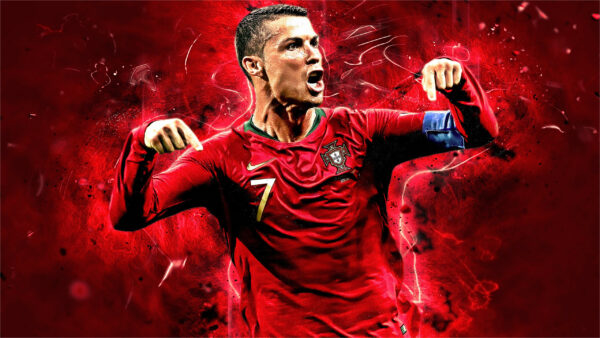 Ảnh đẹp Ronaldo trong màu áo Bồ Đào Nha