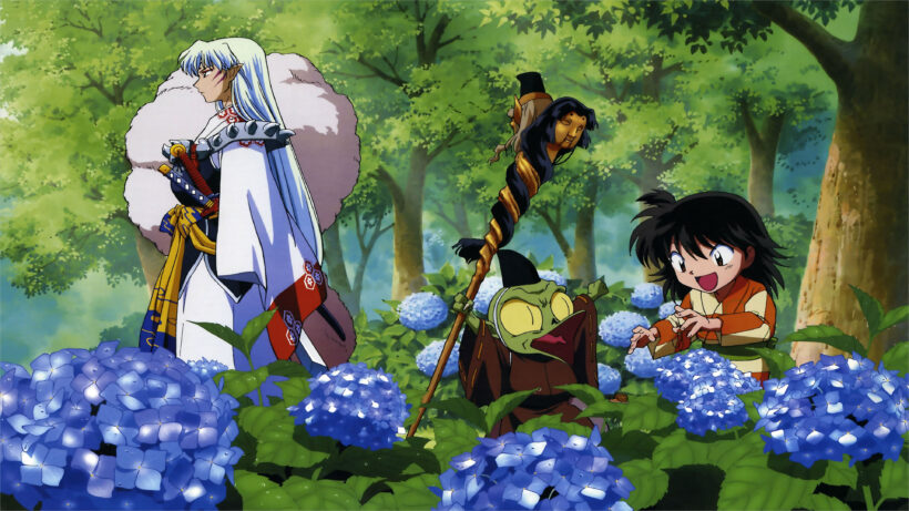 ảnh nền 4k anime Sesshomaru,Rin and Jaken
