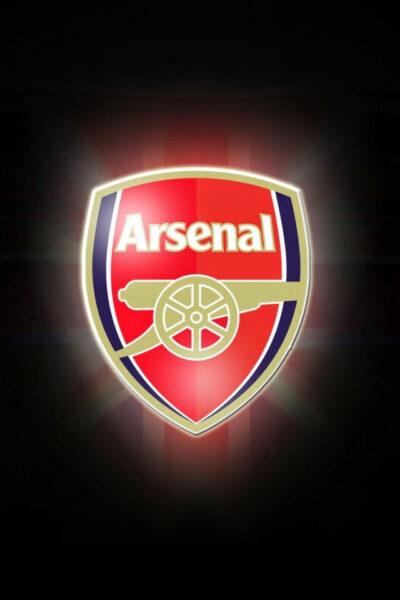 ảnh nền logo Arsenal tối cho điện thoại