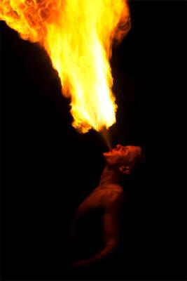 Background người thổi lửa