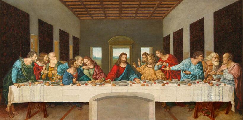 bức tranh bữa tối cuối cùng của Da-Vinci