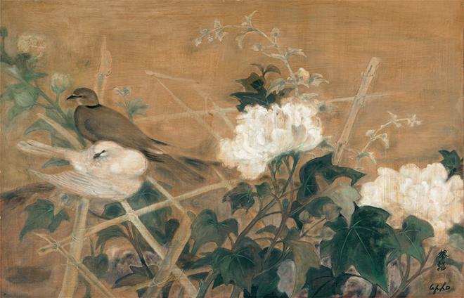 bức tranh chú chim cu gái của Lê Phổ