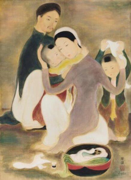 bức tranh gia đình của Lê Phổ