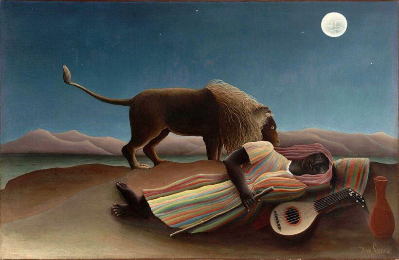 bức tranh Gypsy đang ngủ của Henri-Rousseau