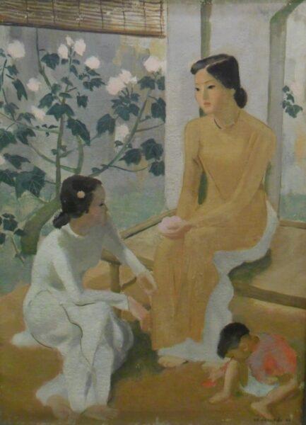 bức tranh hai thiếu nữ và em bé