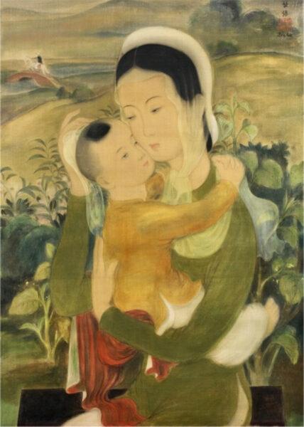 bức tranh mẹ và con của Lê Phổ