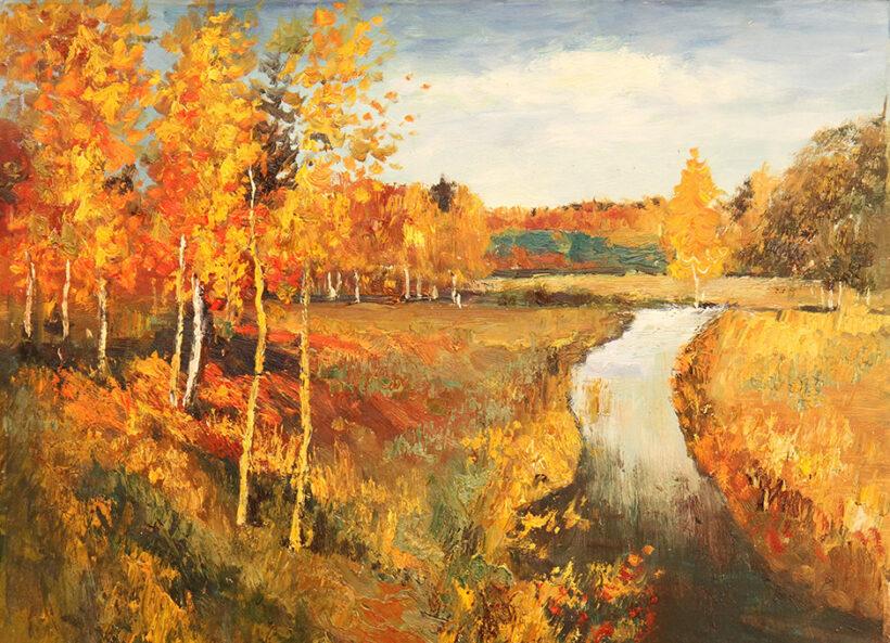 bức tranh mùa thu vàng