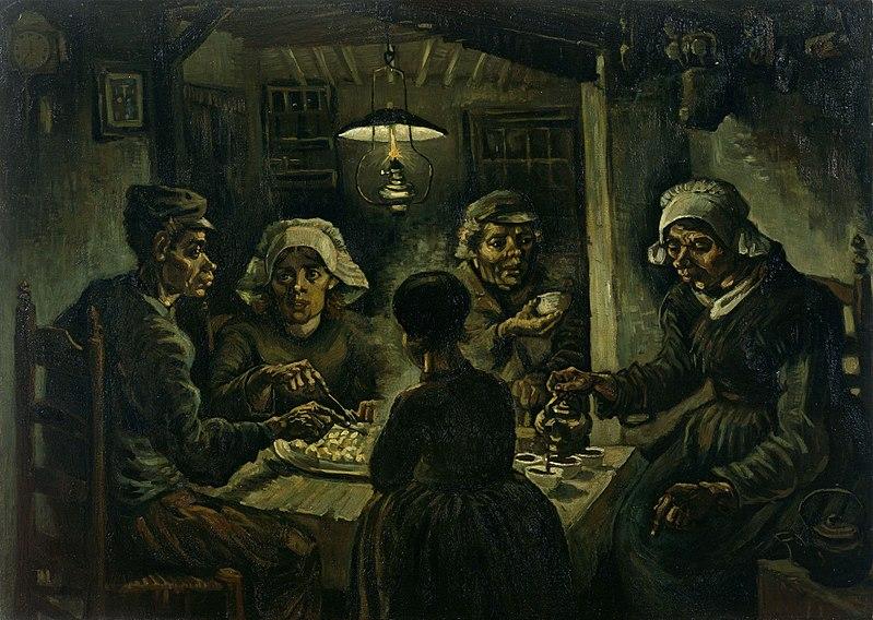 bức tranh những người ăn khoai tây của Van-Gogh
