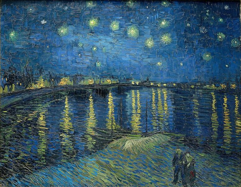 bức tranh Starry-Night-Over-the-Rhone