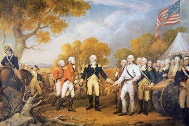bức tranh sự đầu hàng của tướng Burgoyne