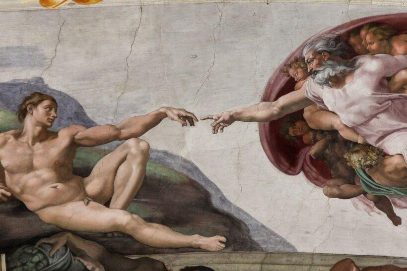 bức tranh sự ra đời của Adam
