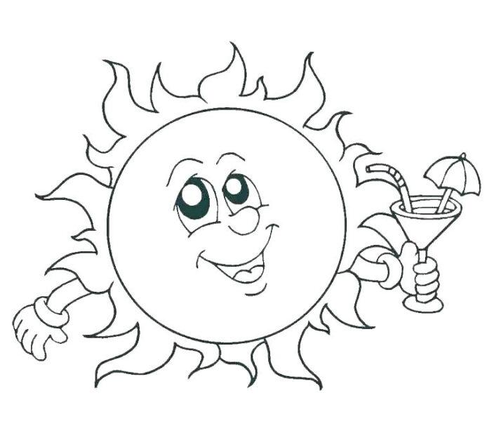 Giáo án tô màu ông mặt trời