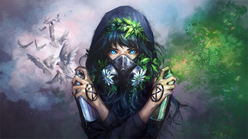 hình ảnh anime 4k nữ ảo thuật gia