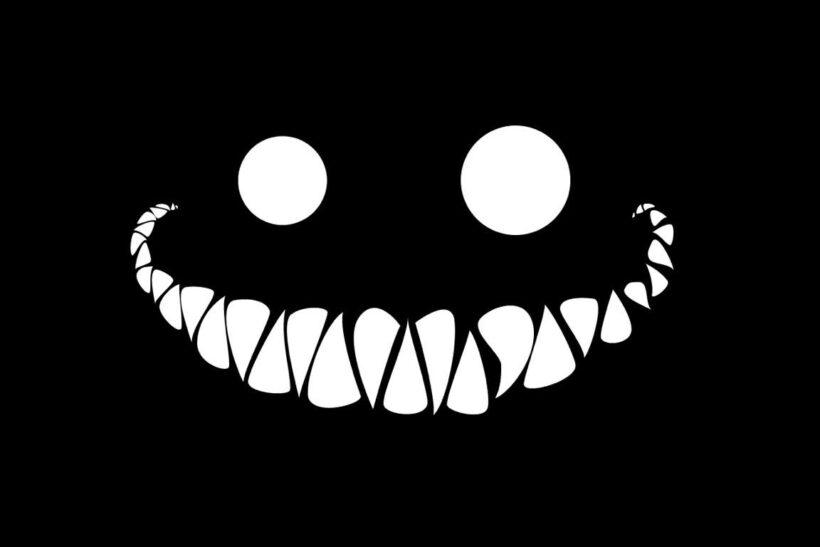 Hình ảnh avatar đen hàm răng và đôi mắt trong đêm