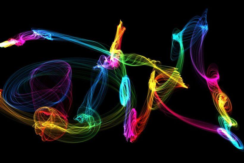 hình ảnh background ánh sáng 3D đa chiều