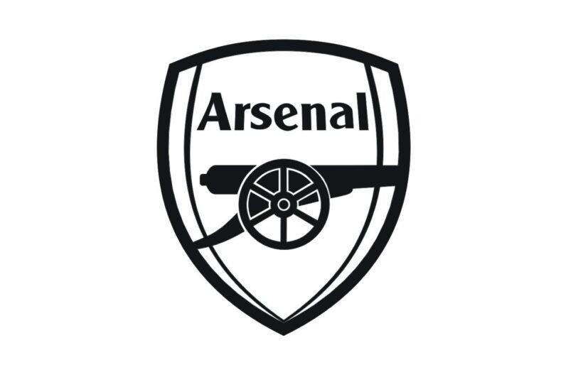 Hình ảnh logo Arsenal đen trắng