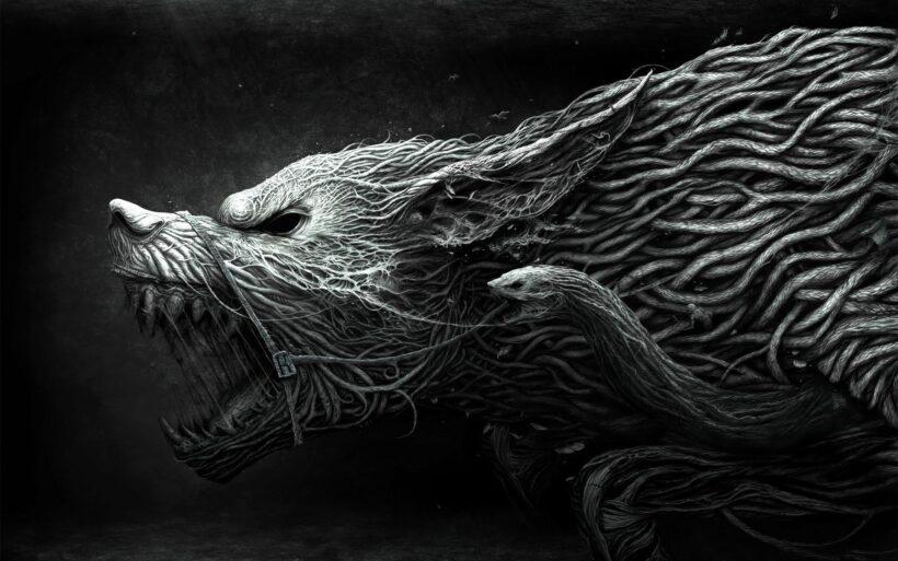 Hình ảnh nền đen Quái thú cực đẹp cực chất cho desktop