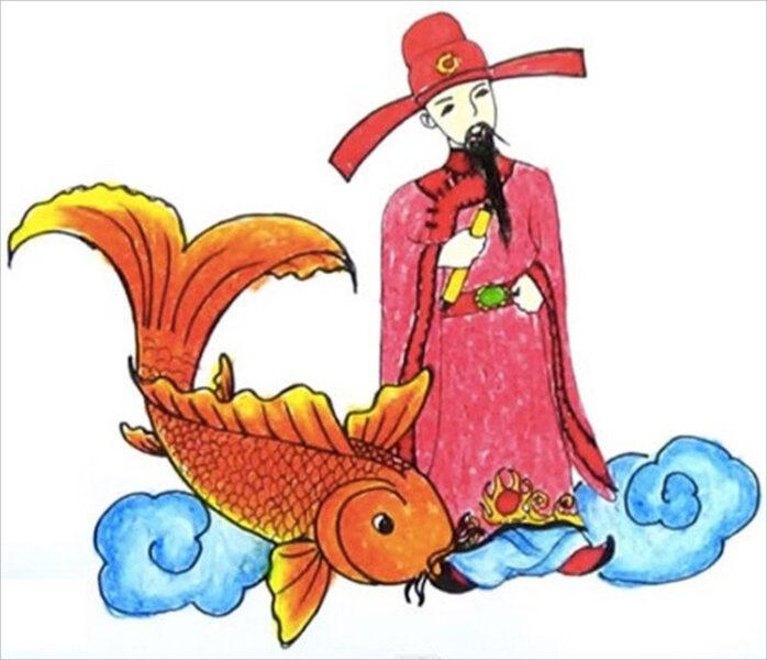 hình ảnh Táo Quân cưỡi cá chép đẹp nhất (1)