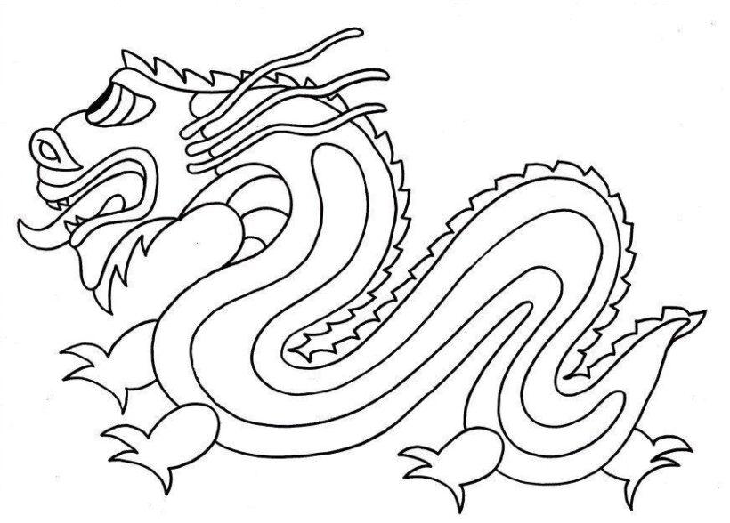 Hình ảnh tô màu con rồng