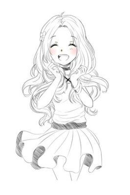Hình ảnh vẽ cô gái xinh đẹp dễ thương