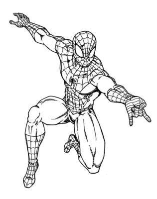 Hình ảnh vẽ người nhện bằng chì