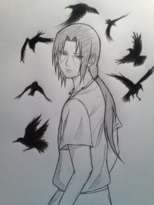 Hình ảnh vẽ Sasuke