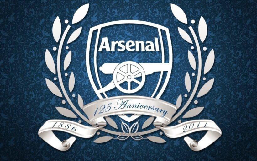 hình logo Arsenal trắng xanh đẹp