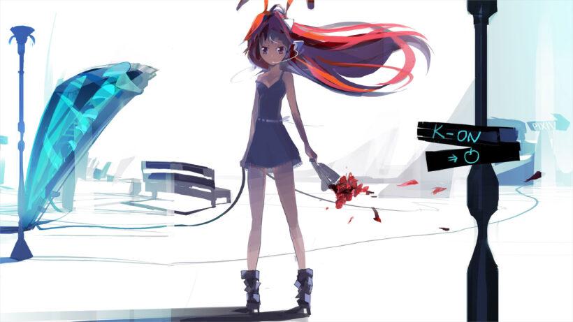 hình nền anime 4k girl xinh chiến binh roi