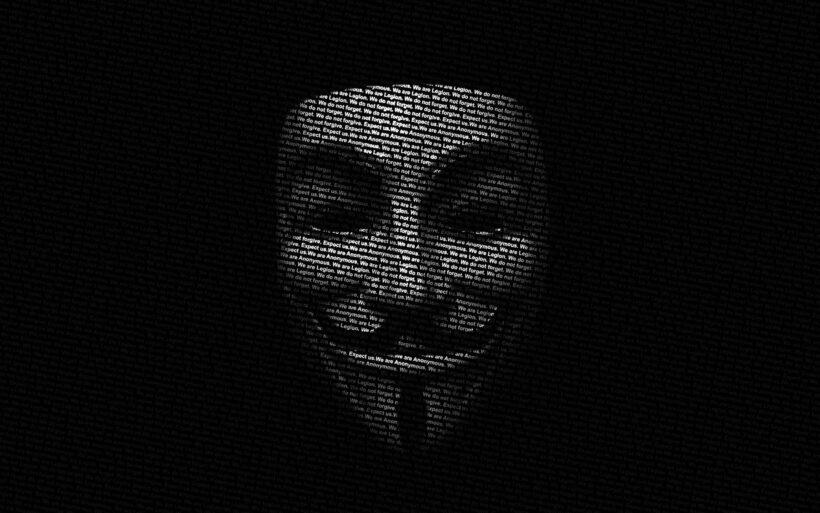 Hình nền đen hacker Anonymous