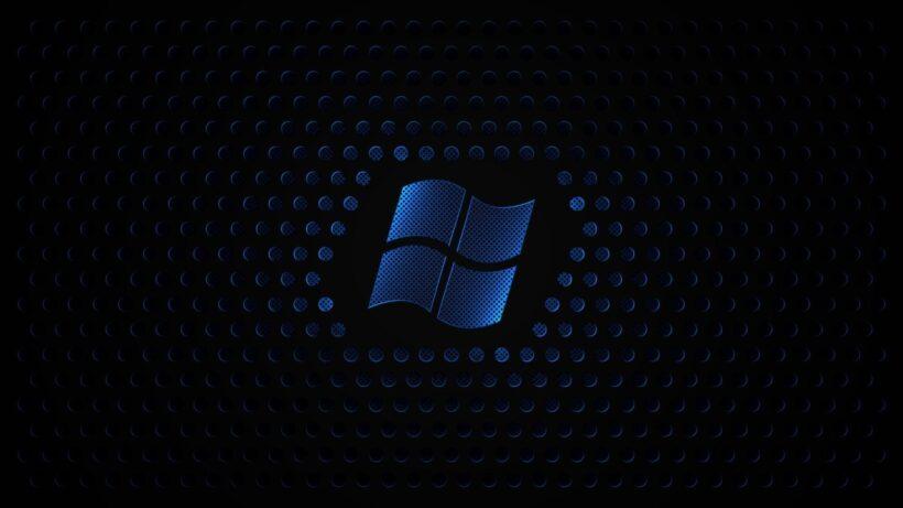 Hình nền đen Windows