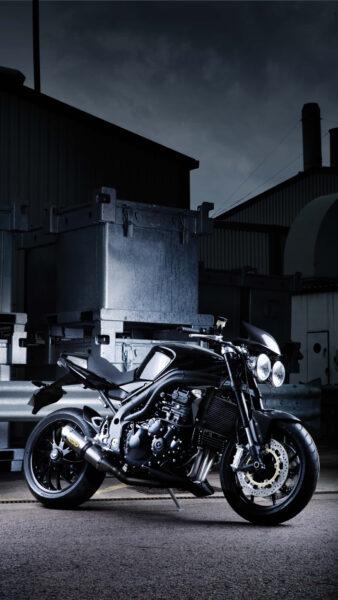 Hình nền điện thoại xe moto đen