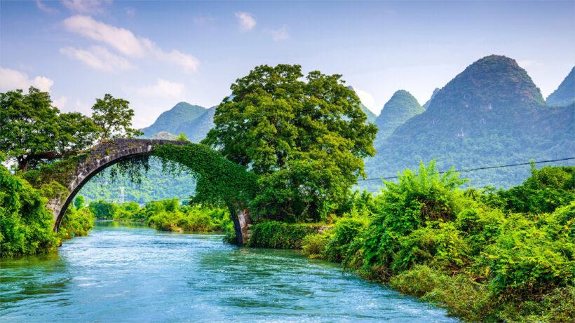 hình nền laptop 4K cực đẹp cảnh sông núi thiên nhiên