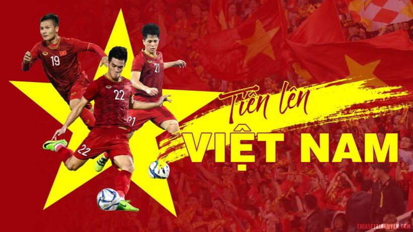 Hình nền laptop pc Full-HD cổ vũ đội tuyển bóng đá Việt Nam
