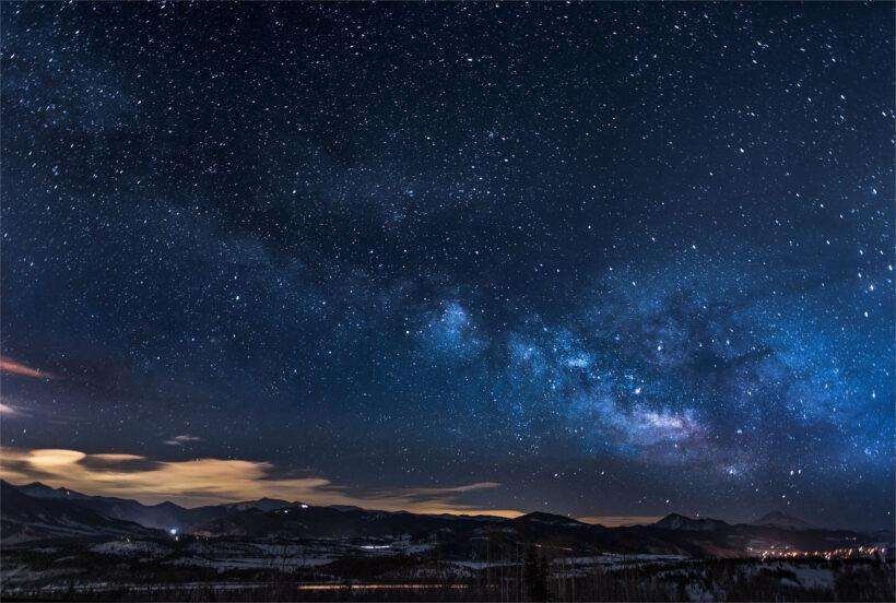 Hình nền thiên nhiên bầu trời sao 4K