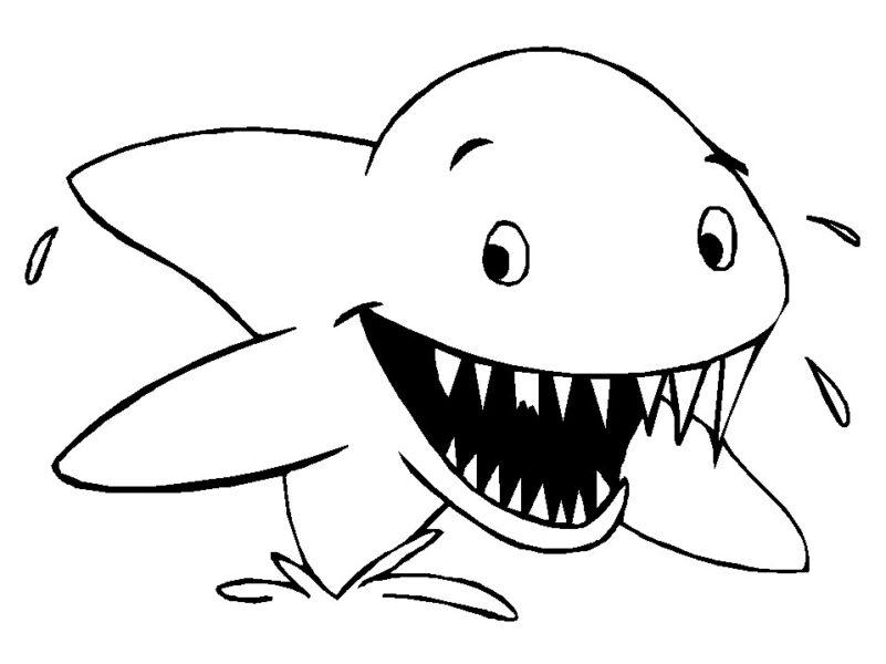 Hình tập tô con cá mập cho bé tô màu (8)