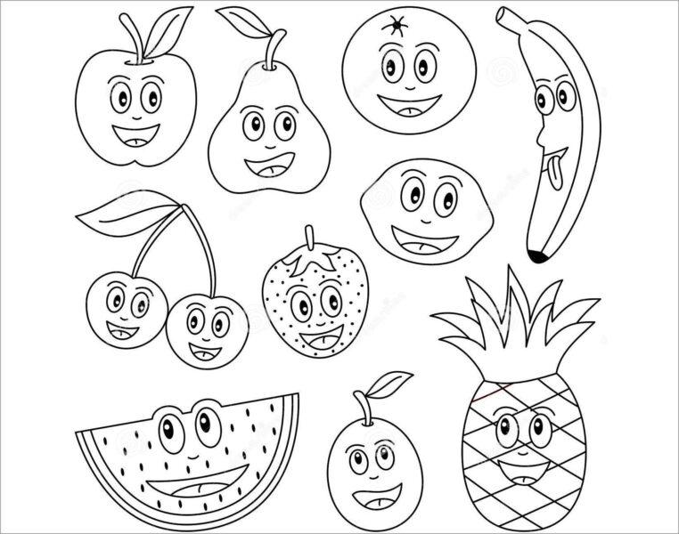 Hình tập tô trái cây đơn giản cho bé tập tô (4)