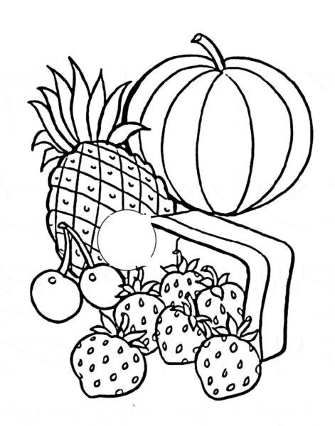 Hình tập tô trái cây đơn giản cho bé tập tô (5)
