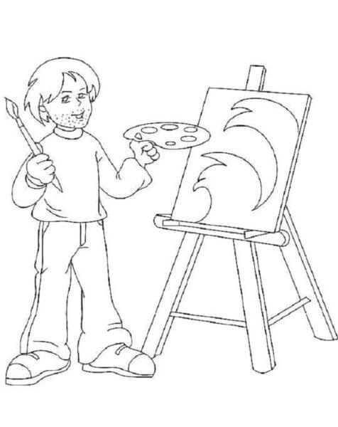 Hình tô màu chủ đề nghề nghiệp cho bé tập tô (10)