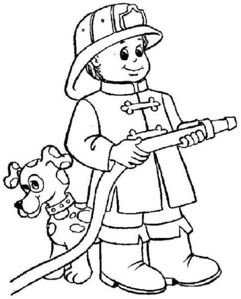 Hình tô màu chủ đề nghề nghiệp cho bé tập tô (7)