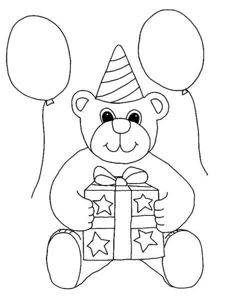 Hình tô màu con gấu đẹp nhất cho bé tập tô (2)