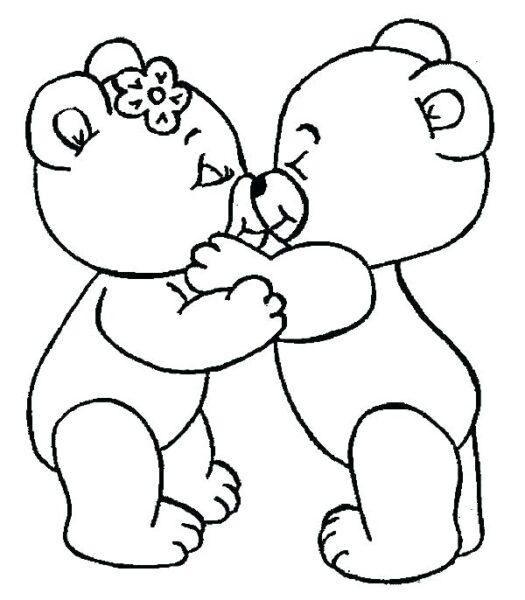Hình tô màu con gấu đẹp nhất cho bé tập tô (6)