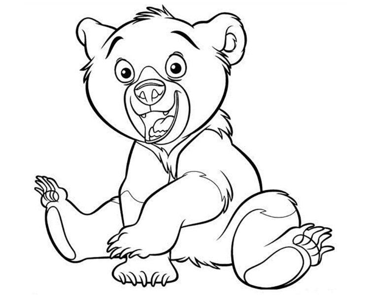 Hình tô màu con gấu đẹp nhất cho bé tập tô (7)