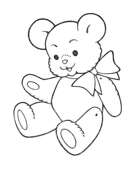 Hình tô màu con gấu đẹp nhất cho bé tập tô (8)