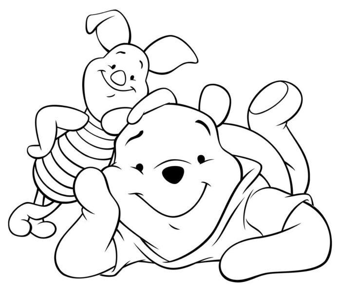 Hình tô màu con gấu đẹp nhất cho bé tập tô (9)