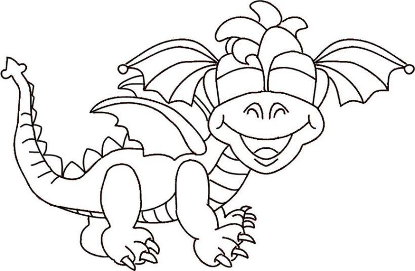 Hình tô màu con rồng đẹp nhất cho bé tập tô (4)