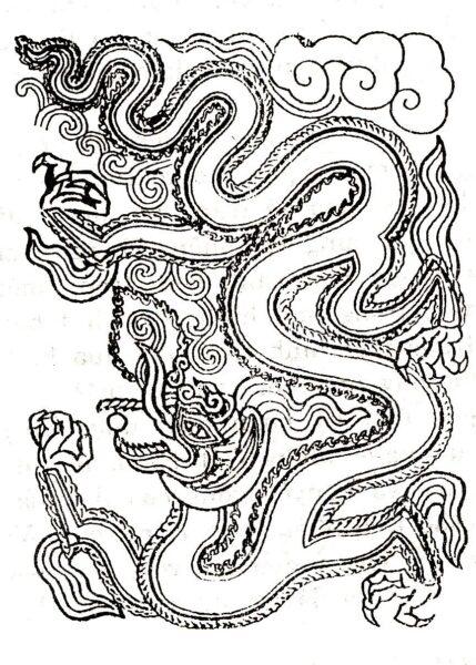 Hình tô màu con rồng đẹp nhất cho bé tập tô (5)