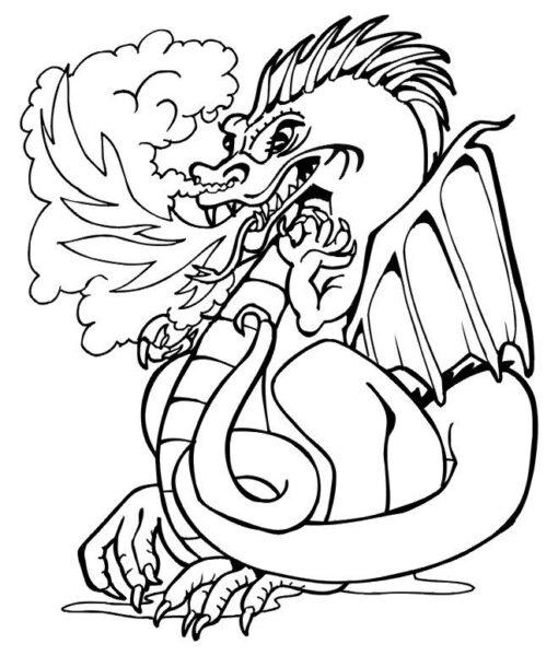 Hình tô màu con rồng đẹp nhất cho bé tập tô (6)