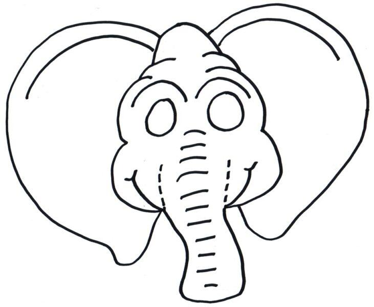 Hình tô màu con voi dễ thương cho bé tập tô (1)