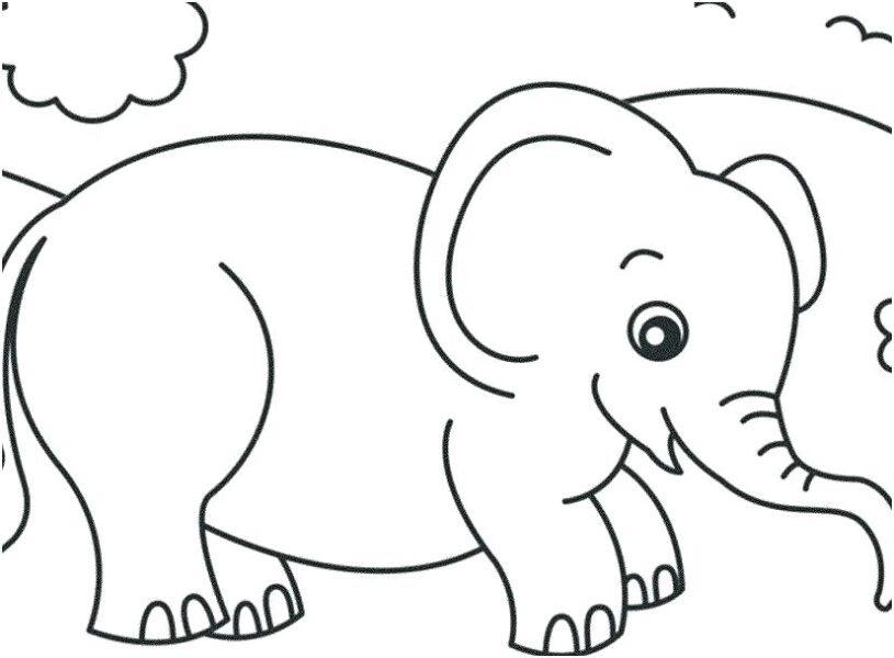 Hình tô màu con voi dễ thương cho bé tập tô (2)