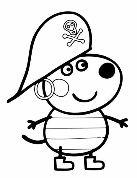 Hình tô màu heo Peppa (4)